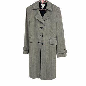 Loft classic Herringbone trench coat button petite